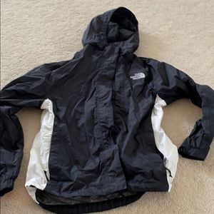 North Face women's small spring jacket black white